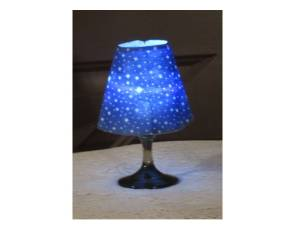 Mini wine glass lamp